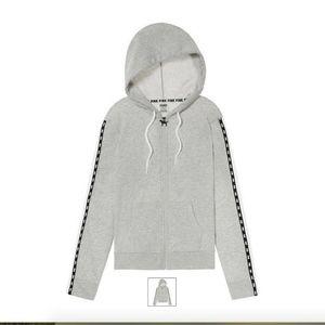 NWOT VS Pink Snap Sleeve Perfect Full Zip Hoodie